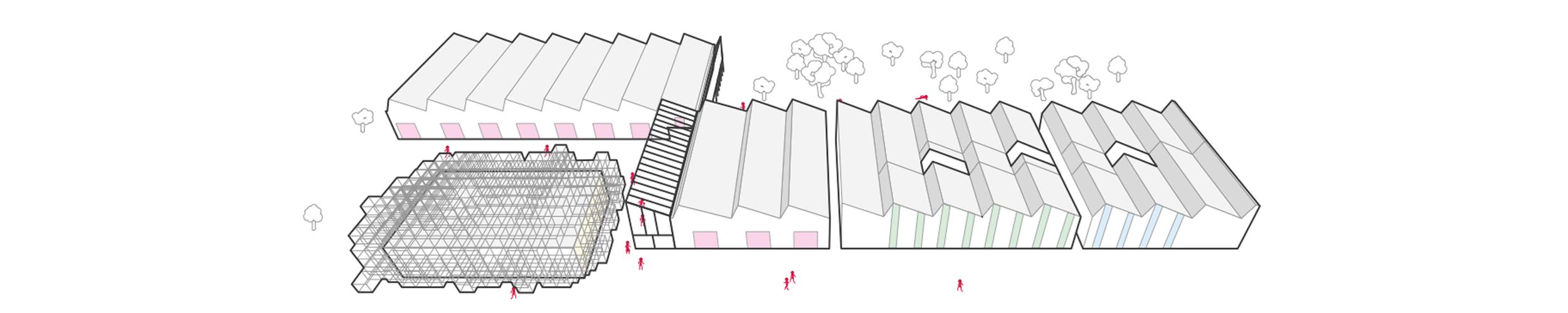 gli edifici di Fondazione Golinelli disegnati da noi